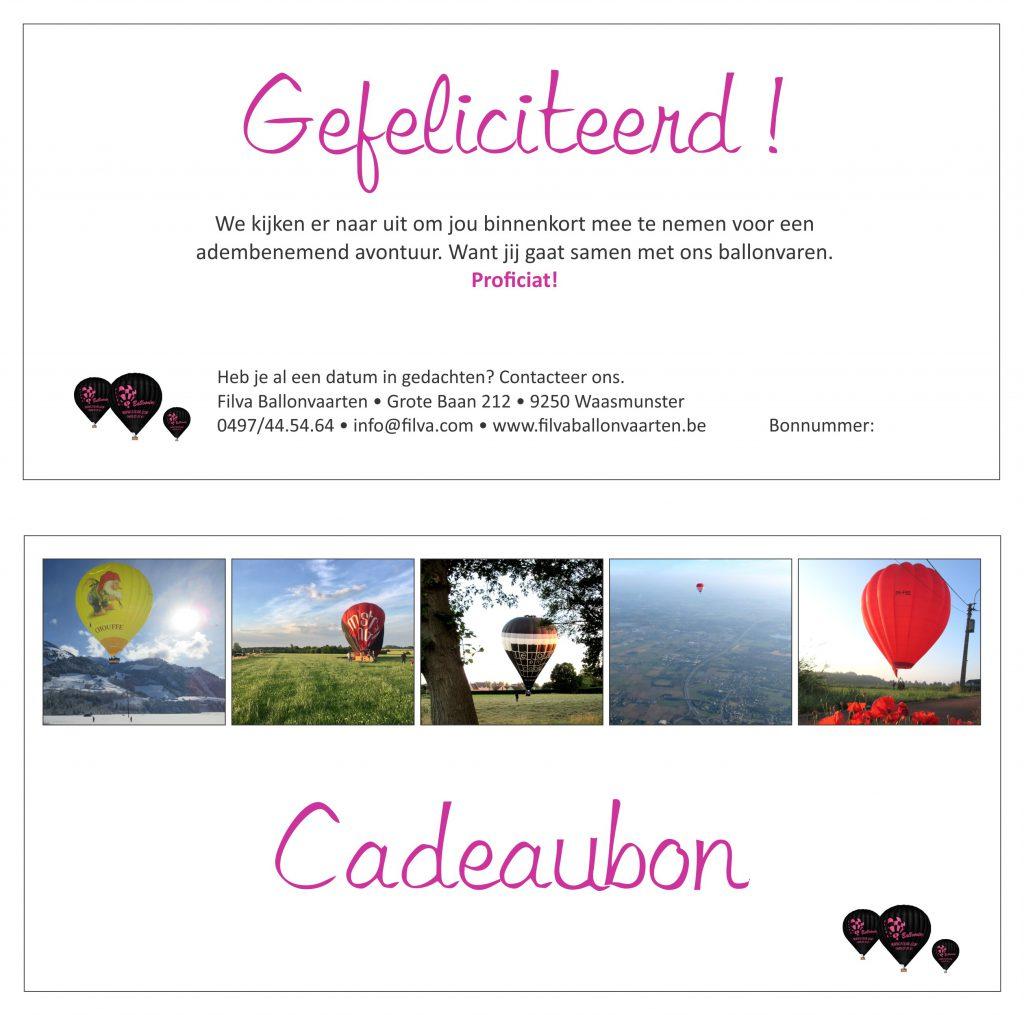 Filva Ballonvaarten | Specimen cadeaubon